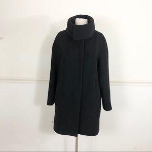 Hilary Radley Alpaca Wool Black Walking coat 4
